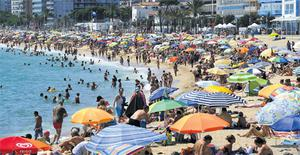 The Spanish economy shrank 0.4pc in the quarter April to June. Tourism is the largest contributor to the economy. Catalonia, pictured, is the main destination for tourists, with 6.3 million visitors for the first half of the year, 12.3pc more than in 2011