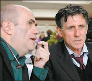 Writer Colm Toibín enjoys a talk with actor Gabriel Byrne who opened the Listowel Writers Week Festival on Wednesday. Credit: Photo: Domnick Walsh