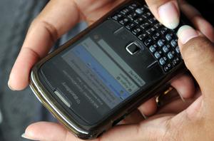 BlackBerry's parent company, RIM, is crashing on the stock market. Photo: Getty Images