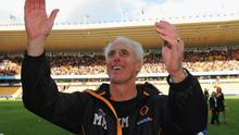 Wolves manager Mick McCarthy celebrates after securing their Premier League survival on the last day of the season. Photo: Getty Images