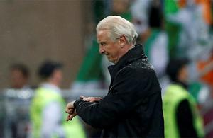 Ireland manager Giovanni Trapattoni during the game. Photo: Reuters