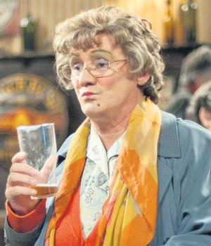 NOSTALGIC: Brendan O'Carroll as Mrs Brown in his award-winning BBC show