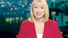 Anne as she prepares to read the news at RTE last night
