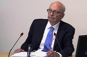News Corp chairman Rupert Murdoch appears at the Leveson inquiry in London. Photo: AP