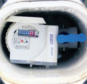 A typical water meter
