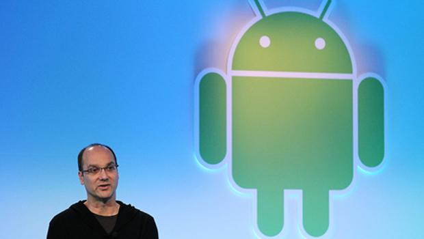 Google's vice president of engineering Andy Rubin unveils the Honeycomb operating system, the first Android OS designed specifically for tablets. Photo: Getty Images