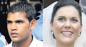 Avinash Treebhoowoon (left) is accused of murdering Michaela McAreavey on her honeymoon