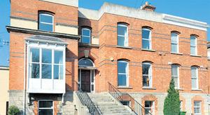 A spacious home: 75 Eglinton Road, Donnybrook, Dublin 4, a 370sqm red brick double fronted period house with three reception rooms, five bedrooms. Sherry FitzGerald are quoting an AMV €1.3m. for the auction on May 25