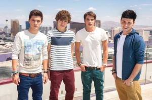 Union J have added George Shelley (2nd from left). Photo: ITV.