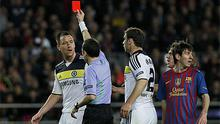 John Terry receives his marching orders after lashing out at Alexis Sanchez