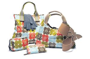 Orla is best known for her distinctive print handbags