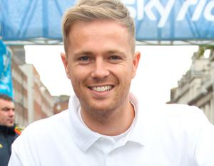 11/09/11Event photocall  with Nicky Byrne at sundays Sky Ride Dublin event (, which closed 8km of Dublins streets to cars and gave people of all ages the chance to ride their bikes freely around the city centrePic Collins Photos