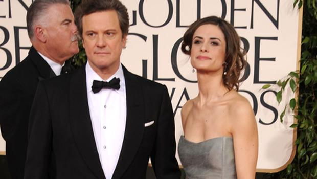Actor Colin Firth and wife Livia. Photo: Getty Images