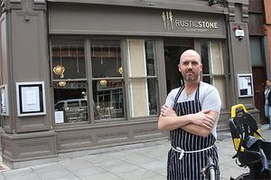 Dylan McGrath pictured outside his restaurant Rustic Stone