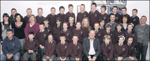 Pupils from Donard NS who received their award from Inland Fisheries Ireland.