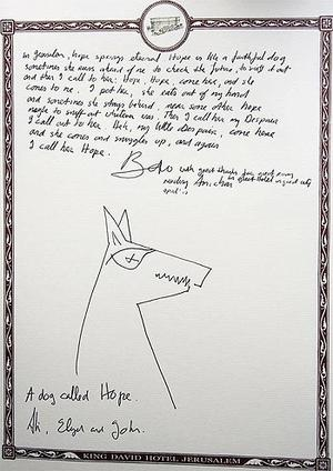 The poetic note left by Bono and his family at the luxury Jerusalem Hotel