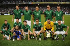 The Ireland squad are pictured before the qualifier against Slovakia. Photo: Getty Images