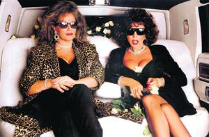 QUEENS OF GLAMAZON: Jackie Collins, pictured with sister Joan, continues the escapades of Lucky in her latest book