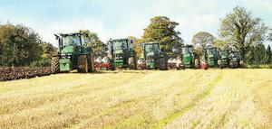 Seven ploughs and 1,500hp make short work of the 100ac farm taken by Combines4Charity. The charity, run by a group of tillage farmers, plans to donate the €30,000 profits from the farm to charity every year. The farm will also double as a demonstration site for children and farmers to visit