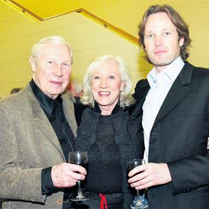 Louis Le Brocquy, with his wife Anne Madden and son Pierre