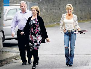 MOUNTJOY VISIT: Sean and Patricia Quinn with Karen Woods after they visited Sean Quinn Jnr in Dublin's Mountjoy Prison last week. Photo: David Conachy