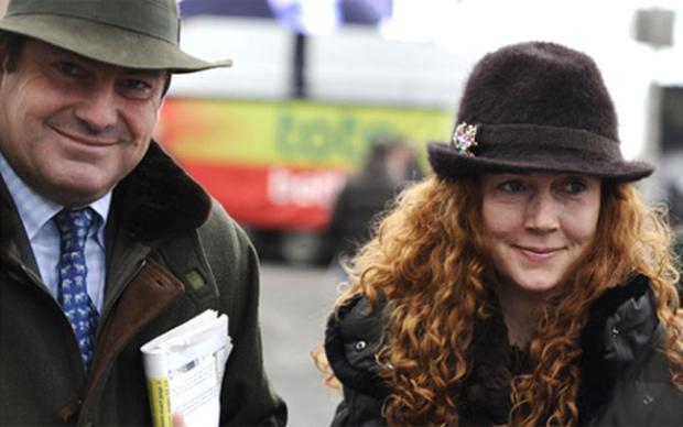 Racehorse trainer Charlie Brooks with his wife Rebekah. Photo: Getty Images