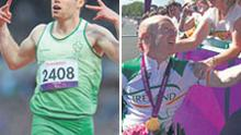 IT was double gold for our Paralympians yesterday. Both cyclist Mark Rohan, pictured on the left being congratulated, and sprinter Jason Smyth, took home their second gold medal and in doing so notched up further victories for the hugely successful Irish team.