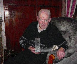 James Tiernan pictured with the League of Ireland championship trophy won by Sligo Rovers in 1977.