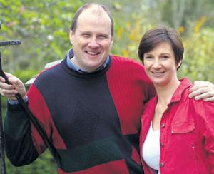 DIFFICULT TIMES: Ivan Yates and his wife Deirdre, pictured when Celtic Bookmakers was doing well.
