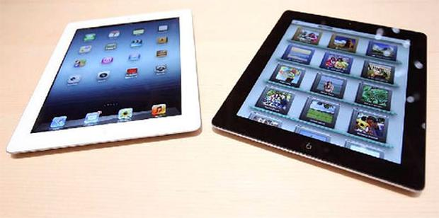 The new iPad is displayed during an Apple event in San Francisco, California March 7, 2012. Photo: Reuters