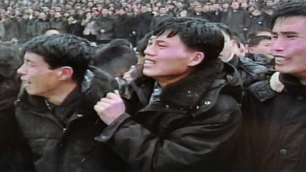 North Koreans mourn during the funeral ceremony for the late leader Kim Jong-il in Pyongyang