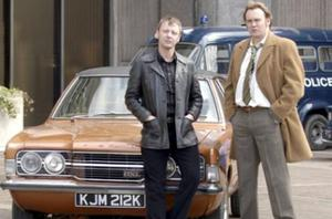 Philip Glenister and co-star John Simm in a scene from Life on Mars