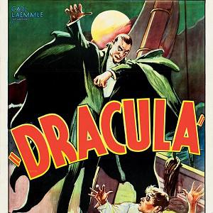 A movie poster for the 1931 film Dracula starring Bela Lugosi was auctioned (AP)