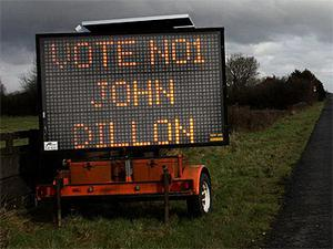 John Dillon 's electronic general election sign