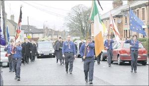 Members of Peter Dixon's beloved Scouting Ireland leading his funeral through the streets of Dundalk last week.