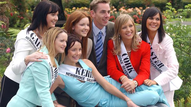 Michaela at the Rose of Tralee launch with Ryan Tubridy and the other 2004 contestants