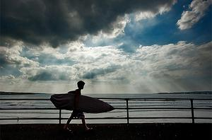 Lahinch Surfer, by Kevin Murphy. Photo PA