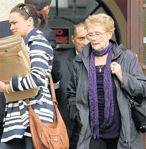 Karen Morrissey leaves court with Anne Forsey, mother of Fred Forsey