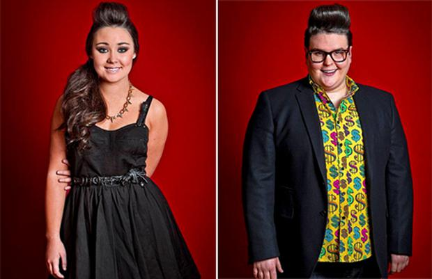 Sophie Griffin and Sam Buttery who were voted off the Voice UK on Sunday. Photo: PA