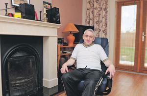 William Tuohy in his home at Church Hill, Tullamore, Co Offaly, yesterday