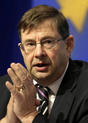 Eamon O Cuiv, deputy leader of Ireland's chief Opposition party Fianna Fail, who has dramatically resigned over the controversial European fiscal treaty.