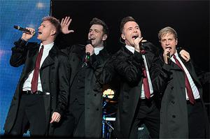 Westlife in concert at the O2 in Dublin