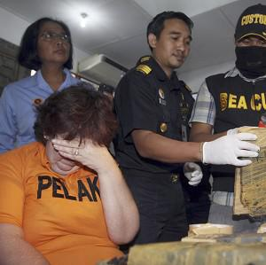 Customs officials in Bali say Lindsay Sandiford was caught with cocaine in her bag (AP)