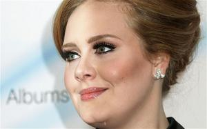 Adele backstage at the 2011 Barclaycard Mercury Music Prize