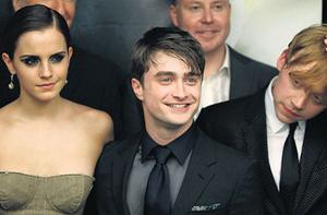 MAGIC MOVIES: Emma Watson, Daniel Radcliffe and Rupert Grint at the movie premiere in New York last week