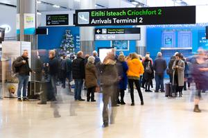 The arrivals hall at Dublin Airport