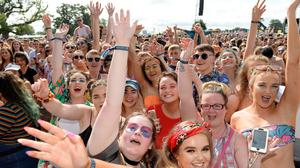 Revellers enjoying the Electric Picnic festival in Stradbally, Co Laois - it is hoped festivals and concerts will be up and running again by summer. Photo: Caroline Quinn
