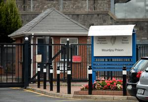 General view of entrance to Mountjoy prison, off               North Circular road, Dublin