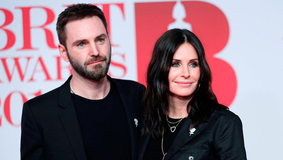 Courteney Cox with Johnny McDaid