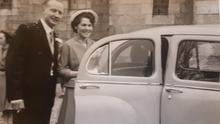 Sean and Brid O'Toole on their wedding day in Baltinglass, Co Wicklow in 1958